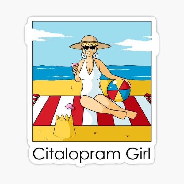Citalopram Girl - Colour Sticker