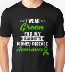 Kidney Disease Awareness For My Granddaughter Unisex T-Shirt
