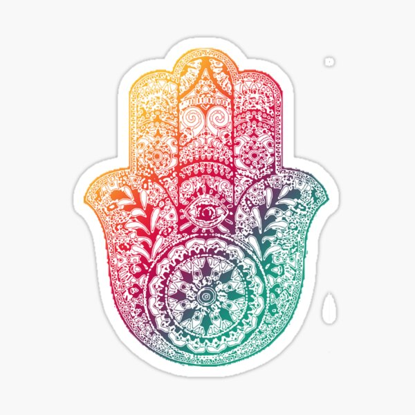 Warm Hamsa Sticker
