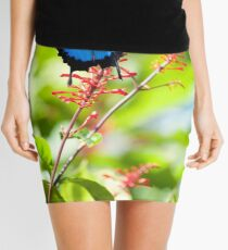 Beautiful Blue - Ulysses butterfly Mini Skirt