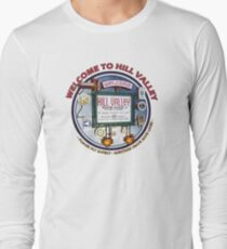 Welcome to Hill Valley - Sky Way Billboard Long Sleeve T-Shirt