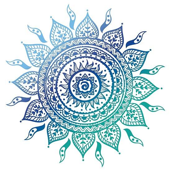 Blaue Farbverlaufsmandala von adjsr