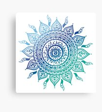 Blue Gradient Mandala  Canvas Print