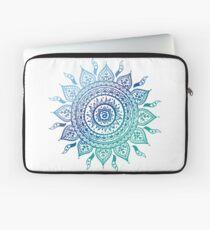 Blue Gradient Mandala  Laptop Sleeve