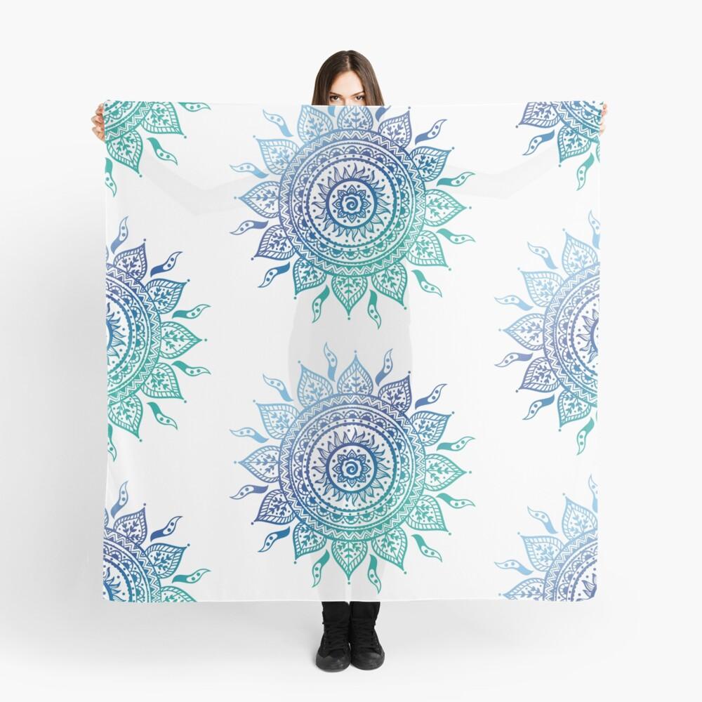 Blaue Farbverlaufsmandala Tuch