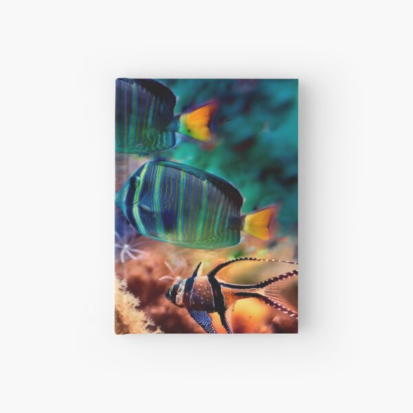 Tropical fish Hardcover Journal
