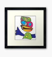 very colorful person Framed Print