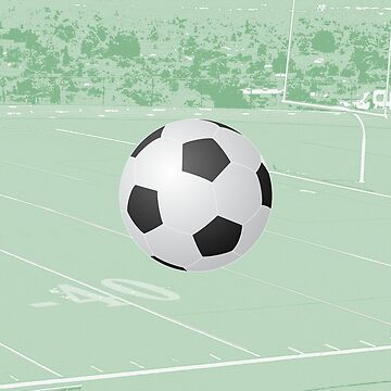 Soccer Field with Suspended Soccer Ball by CafePretzel
