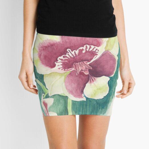 Flower of Miltonia Mini Skirt