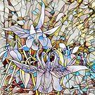Aquilegias: Dancing purple swans by Yoo-lee-a