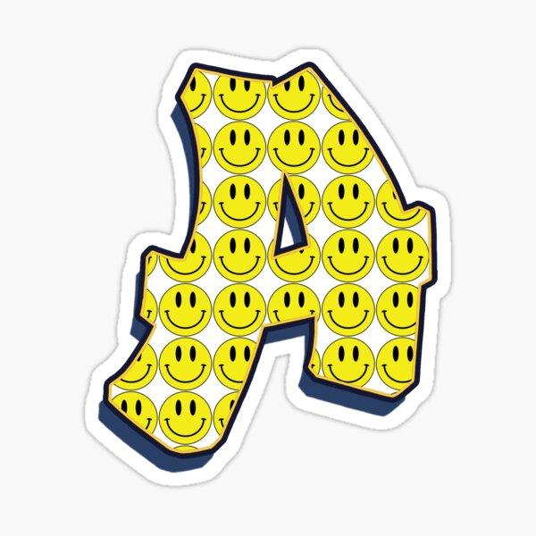 Letter A - Smile Sticker