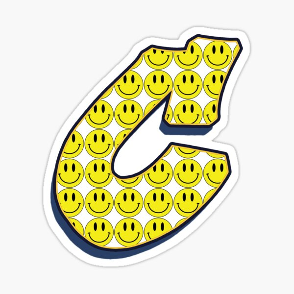 Letter C - Smile Sticker