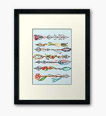 Watercolor  arrows, graphic , tattoo Framed Print