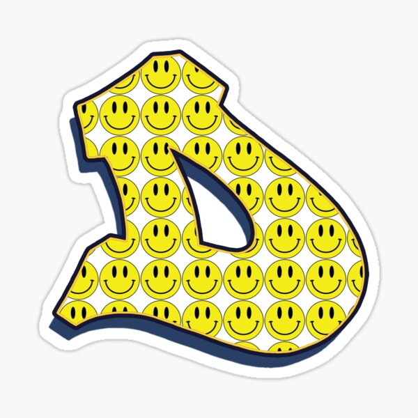 Letter D - Smile Sticker