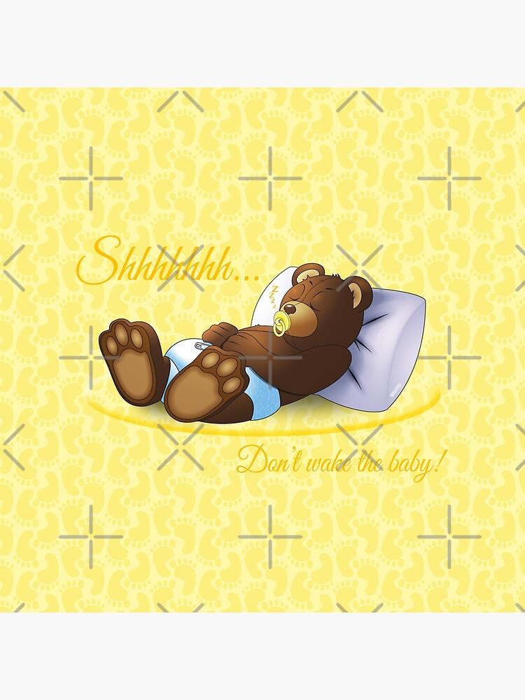 Sleeping Ted - Yellow by ifourdezign