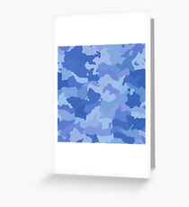 Blue soldier camouflage Greeting Card