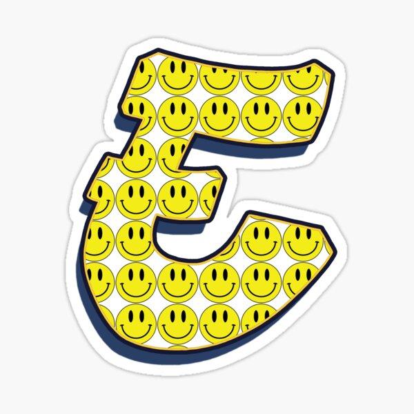 Letter E - Smile Sticker