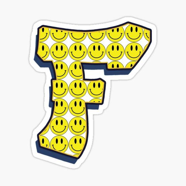 Letter F - Smile Sticker