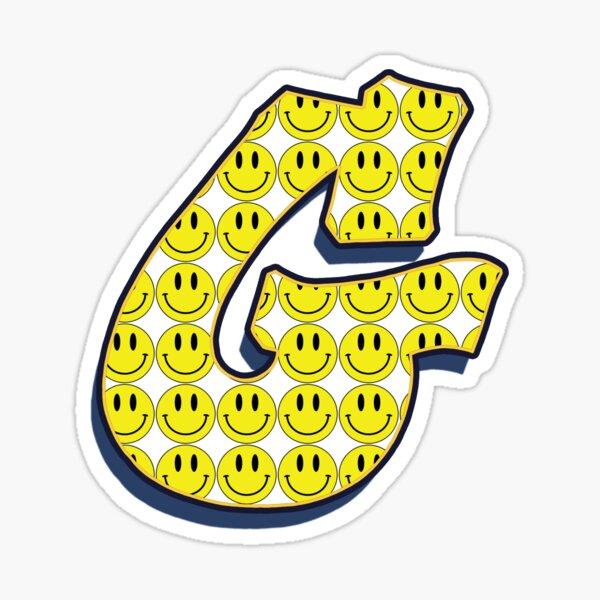 Letter G - Smile Sticker