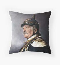 Otto von Bismarck, 1894 colorized Throw Pillow