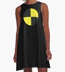 Crashtest-Dummy-lustiges einfaches Halloween-Kostüm-T-Shirt A-Linien Kleid