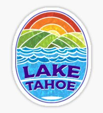 Lake Tahoe California Nevada Ski Boating Skiing Boat Sticker