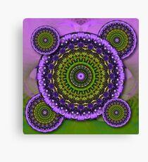 Floral Kaleidoscopes Canvas Print