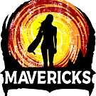Surfing Mavericks California Surfer Half Moon Bay Surf by MyHandmadeSigns