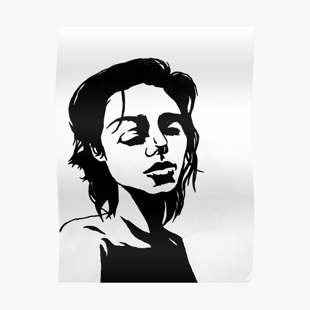 High contrast portrait poster