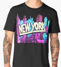 New York City skyline graffiti Men's Premium T-Shirt