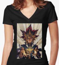 Yami Yugi Women's Fitted V-Neck T-Shirt