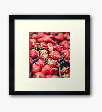 Strawberry Pile Framed Print