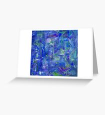 Busy Blue Greeting Card