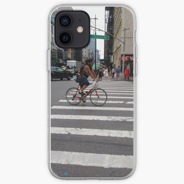 Phone Cases, Zebra crossing, New York City, Manhattan, Brooklyn, New York, streets, buildings, pedestrians, #NewYorkCity, #Manhattan, #Brooklyn, #NewYork, #streets, #buildings, #skyscrapers, #cars, #pedestrians iPhone Soft Case