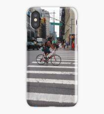 Zebra crossing, New York City, Manhattan, Brooklyn, New York, streets, buildings, pedestrians, #NewYorkCity, #Manhattan, #Brooklyn, #NewYork, #streets, #buildings, #skyscrapers, #cars, #pedestrians iPhone Case