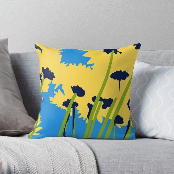 Friendship Flowers Throw Pillow