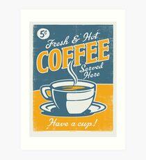 Lámina artística Cartel de la vendimia, café