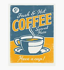 Vintage poster- Coffee Photographic Print