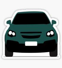 Blue vehicle. Sticker