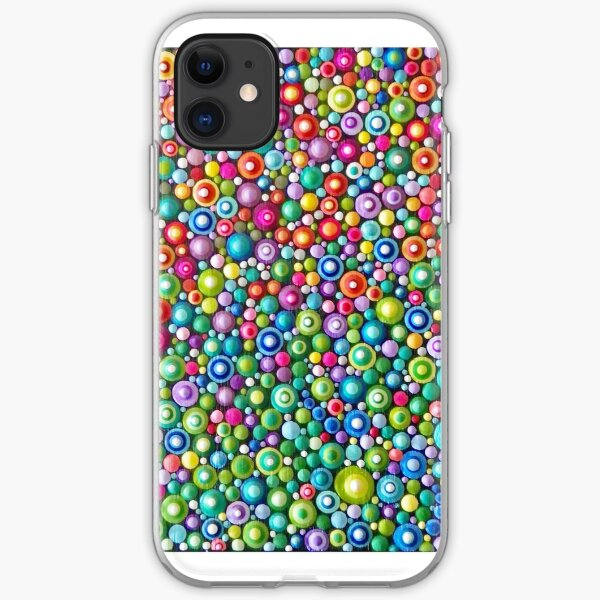 Colorful Dotting Art iPhone Soft Case