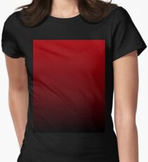 vintage vampire red black burgundy ombre Fitted T-Shirt