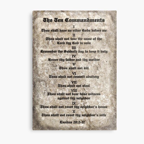 Rules to Live By Metal Print