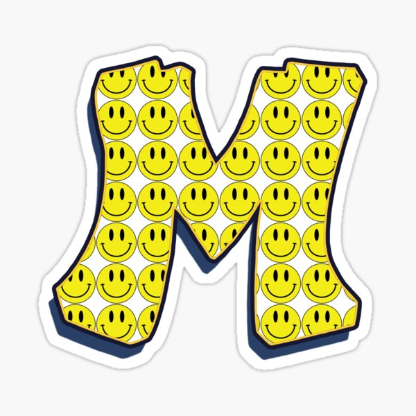 Letter M - Smile Sticker
