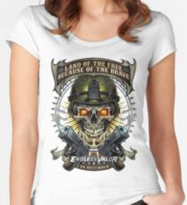 Skull Soldier and Guns Women's Fitted Scoop T-Shirt
