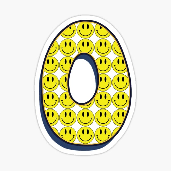 Letter O - Smile  Sticker