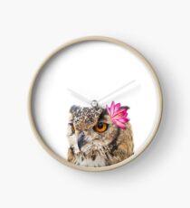 Virginia-Uhu, Eule Wandkunst, Tierwand Kunstdruck, Aquarell Eule, Tier Kunstdrucke, Eulen, Eule Dekor, Kinderzimmer Tier Uhr