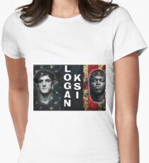 Logan Paul vs KSI  Women's Fitted T-Shirt
