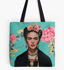 Frida Kahlo  strong woman Feminist Mexican artist Tote Bag