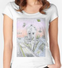 Futuristic  Women's Fitted Scoop T-Shirt