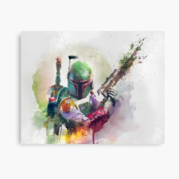 Bounty Hunter Watercolor Canvas Print